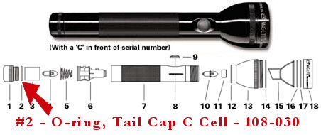 C D Cell Parts Flashlightsales Com Discount Maglite