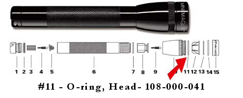 Maglite AA Mini Maglite O-Ring Head