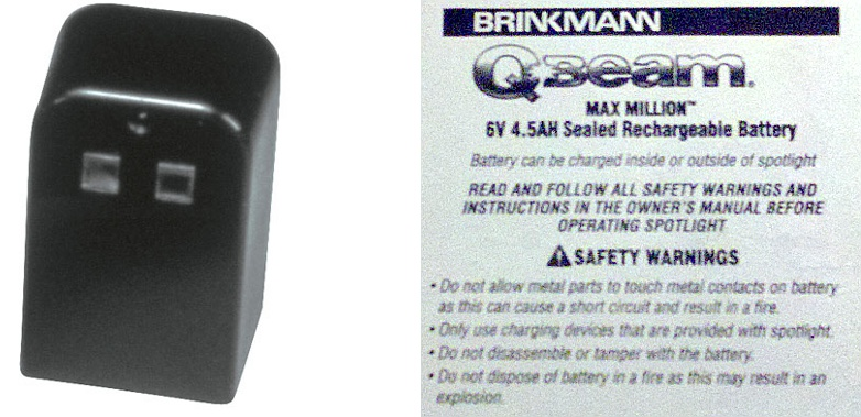 Brinkmann 6 Volt Rechargeable Q-beam Battery - 802-2605-0