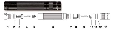 maglite parts lists flashlightsales com discount maglite rh flashlightsales com mini maglite switch diagram