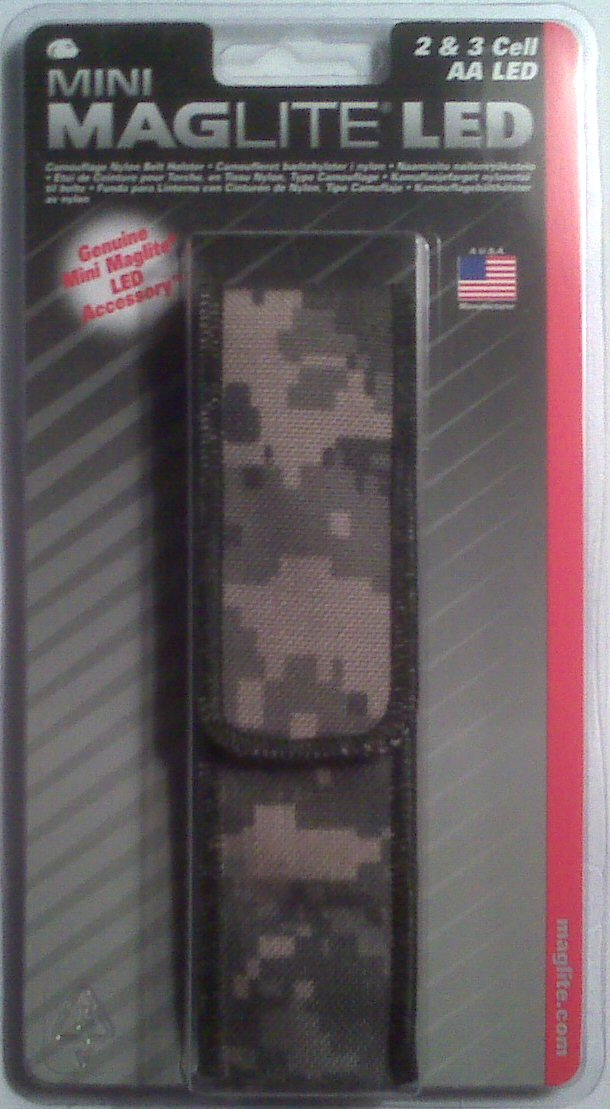 Maglite Mini Mag AA LED Full Flap Nylon Holster - CAMO - AP2X106