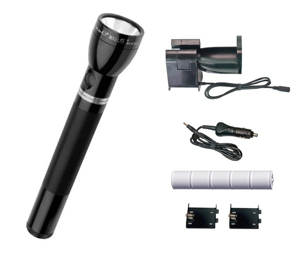 Maglite Rechargeable Flashlight - w/12VDC Car Adapter RE-2019
