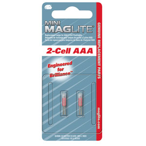 Maglite AAA Mini Maglite Replacement Lamps (2) - LM3A001