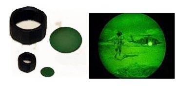 NVG Lens AA with Holder Green